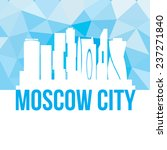 vector silhouette of moscow city   Shutterstock .eps vector #237271840