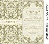 antique baroque invitation ... | Shutterstock .eps vector #237271990
