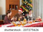happy family celebrating new... | Shutterstock . vector #237275626