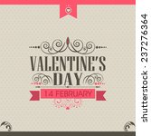 vintage greeting card or love... | Shutterstock .eps vector #237276364