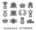 awards icons   Shutterstock .eps vector #237280858