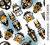 african masks. seamless... | Shutterstock .eps vector #237283858