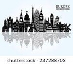 europe skyline detailed... | Shutterstock .eps vector #237288703