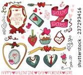 valentine's day wedding love... | Shutterstock .eps vector #237293416