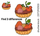 find 3 differences  cake  | Shutterstock .eps vector #237293503
