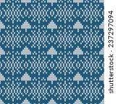 seamless knitted winter pattern | Shutterstock .eps vector #237297094