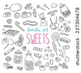 set of various doodles  hand... | Shutterstock .eps vector #237304678