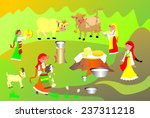 milk and cheese | Shutterstock .eps vector #237311218