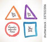 geometric watercolor frame.... | Shutterstock .eps vector #237322306