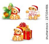 set of christmas icons with a... | Shutterstock .eps vector #237334486