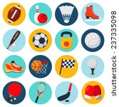 sport icons set with soccer... | Shutterstock .eps vector #237335098