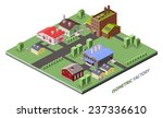 isometric factory concept with... | Shutterstock .eps vector #237336610