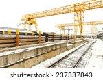 overhead cranes over railroad... | Shutterstock . vector #237337843