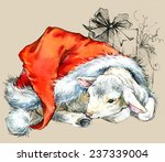 New Year Sheep. Background For...