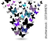 Blue Purple Butterfly Flying U...