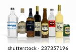 3d collection of alcoholic... | Shutterstock . vector #237357196
