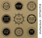 set of vintage signs and labels. | Shutterstock .eps vector #237361918