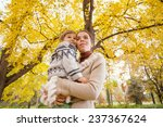 happy family enjoying autumn... | Shutterstock . vector #237367624