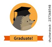 happy graduate in cap... | Shutterstock .eps vector #237368548