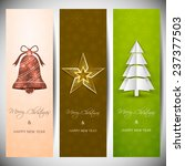 set of vertical christmas... | Shutterstock .eps vector #237377503