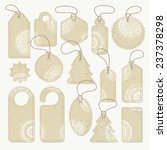 set of cardboard tags with... | Shutterstock .eps vector #237378298