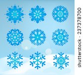 collection of snowflakes on a... | Shutterstock .eps vector #237378700