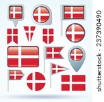 flag set of denmark  vector... | Shutterstock .eps vector #237390490