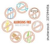 vector icons set for allergens...   Shutterstock .eps vector #237394456