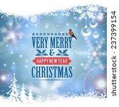 christmas frame with retro...   Shutterstock .eps vector #237399154