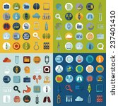 set of medical flat icons | Shutterstock .eps vector #237401410