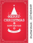 christmas party invitation... | Shutterstock .eps vector #237404449