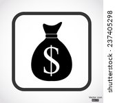 money bag icon with dollar sign ...