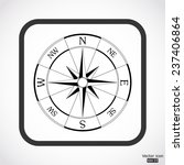 wind rose compass icon   black... | Shutterstock .eps vector #237406864