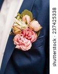 boutonniere peonies flower on... | Shutterstock . vector #237425338