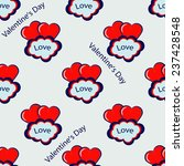 valentine's day vector seamless ... | Shutterstock .eps vector #237428548