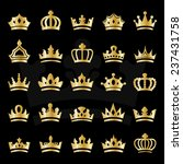 crown icons set   isolated on... | Shutterstock .eps vector #237431758