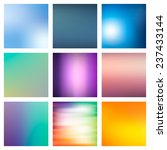 9 abstract colorful smooth... | Shutterstock .eps vector #237433144