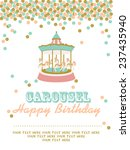 carousel birthday party   Shutterstock .eps vector #237435940