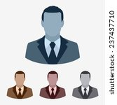 vector businessman flat icon set | Shutterstock .eps vector #237437710