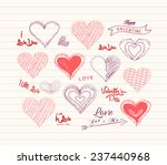 valentine day love hearts... | Shutterstock .eps vector #237440968