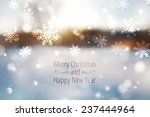 winter blurred background ... | Shutterstock .eps vector #237444964