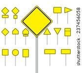 vector set of blank road sign... | Shutterstock .eps vector #237456058