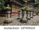stone lanterns at nikko tosho...