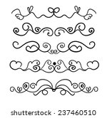 set of page decoration line... | Shutterstock .eps vector #237460510