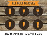 beer glasses icons on wood... | Shutterstock .eps vector #237465238