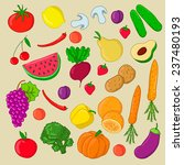 hand drawn food set with... | Shutterstock .eps vector #237480193