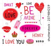 valentine i love you sweetheart ... | Shutterstock .eps vector #237484219