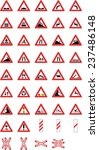 warning road signs | Shutterstock .eps vector #237486148