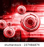 red light abstract technology... | Shutterstock .eps vector #237486874