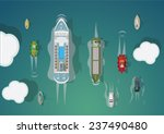 different types of ships. top... | Shutterstock .eps vector #237490480